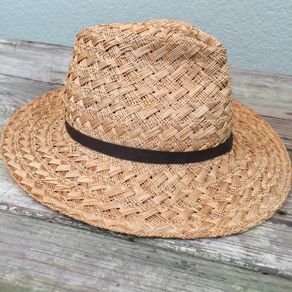 fb852a0d6 Henschel Hat Co. woven straw Fedora band medium